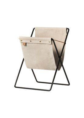 Ferm Living - Keyring - Herman Magazine Stand - Black with Canvas