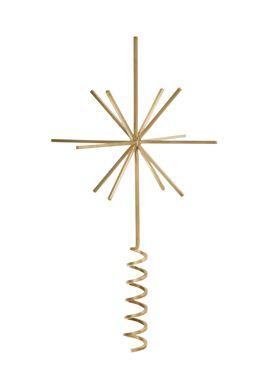 Ferm Living - Christmas Ornaments - Brass Christmas Tree Top Star - Brass