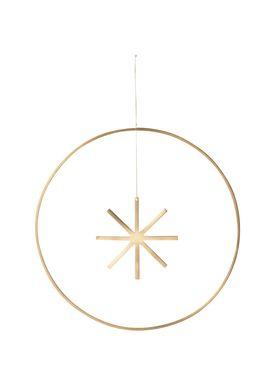 Ferm Living - Christmas Ornaments - Winterland Brass Star - Large - Brass