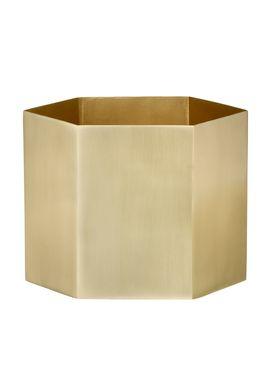 Ferm Living - Jar - Hexagon Pot - XLarge - Brass