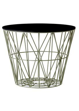 Ferm Living - Basket - Wire Basket - Large - Dusty Green