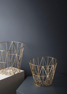 Ferm Living - Basket - Wire Basket - Medium - Brass