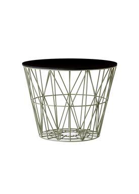 Ferm Living - Basket - Wire Basket - Small - Dusty Green