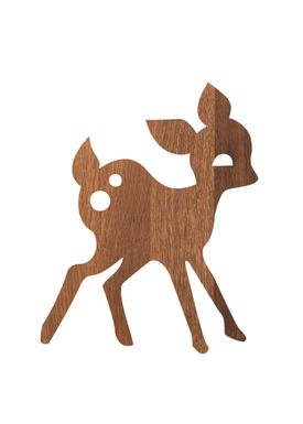 Ferm Living - Lampe - Ferm Børnelampe Røget Eg - Deer: Røget Eg