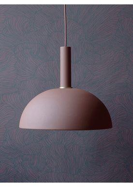 Ferm Living - Lampe - Shades - Dome - Rød Brun