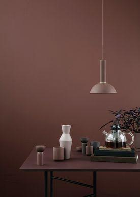 Ferm Living - Lampe - Shades - Hoop - Rød Brun