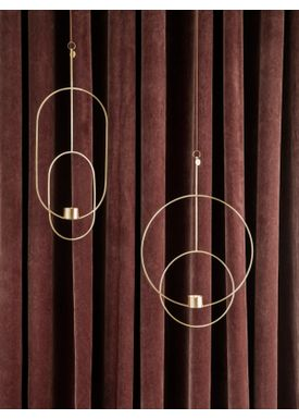 Ferm Living - Candle Holder - Hanging Tealight - Circular Brass