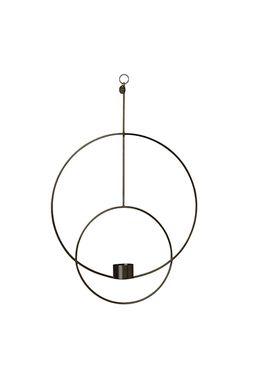 Ferm Living - Candle Holder - Hanging Tealight - Circular Black