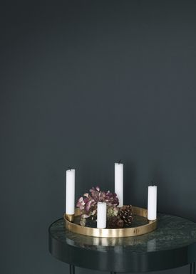 Ferm Living - Candlestick - Candle Holder Circle - Small - Brass