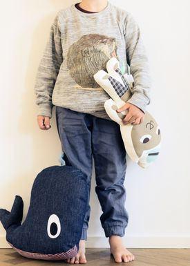 Ferm Living - Cushion - Printed Kids Cushion - Mr. Cat