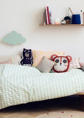 Ferm Living - Cushion - Printed Kids Cushion - Mr. Bear