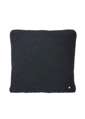 Ferm Living - Cushion - Quilt Cushion - Dark grey 45 x 45