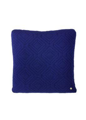 Ferm Living - Cushion - Quilt Cushion - Dark blue 45 x 45