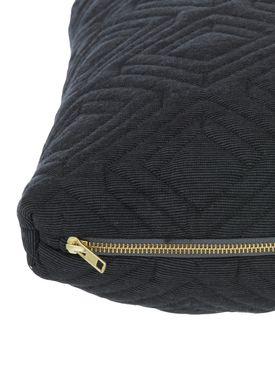 Ferm Living - Cushion - Quilt Cushion - Dark grey 40 x 60