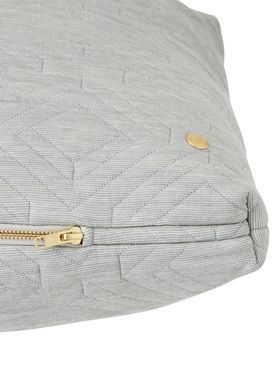 Ferm Living - Cushion - Quilt Cushion - Light grey 80 x 50