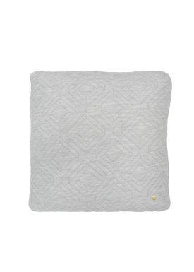 Ferm Living - Cushion - Quilt Cushion - Light grey 45 x 45