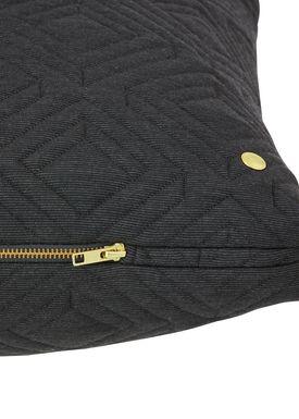 Ferm Living - Cushion - Quilt Cushion - Dark grey 80 x 50