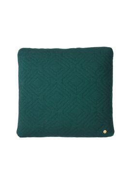 Ferm Living - Cushion - Quilt Cushion - Dark green 45 x 45