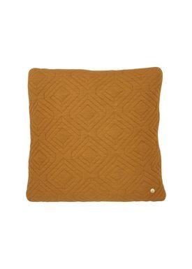Ferm Living - Cushion - Quilt Cushion - Curry 45 x 45