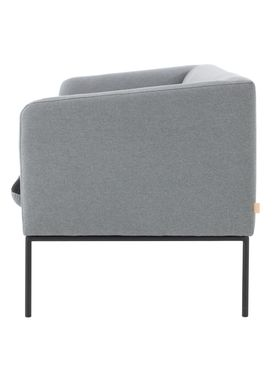 Ferm Living - Couch - Turn Sofa - Cotton mix - Light grey w. blue seat