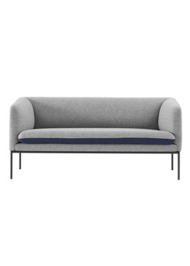 Ferm Living - Couch - Turn Sofa - Wool mix - Light grey w. blue seat