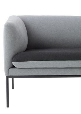 Ferm Living - Sofa - Turn Sofa - Cotton mix - Light grey w. dark grey seat