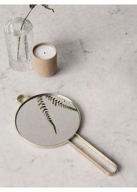 Ferm Living - Mirror - Poste Hand Mirror - Brass