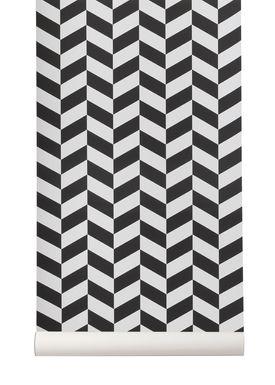 Ferm Living - Wallpaper - Angle Wallpaper - Black