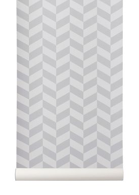 Ferm Living - Wallpaper - Angle Wallpaper - Grey
