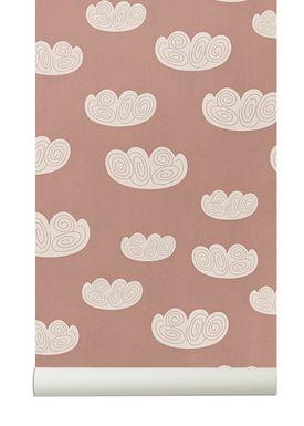 Ferm Living - Wallpaper - Cloud Wallpaper - Rose/White