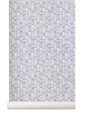 Ferm Living - Wallpaper - Vivid Wallpaper - Grey