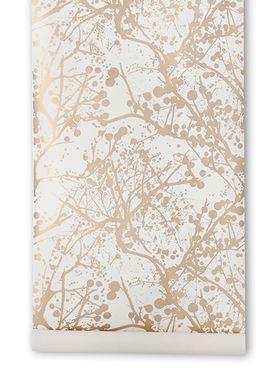 Ferm Living - Tapet - Wilderness Wallpaper - White/Gold