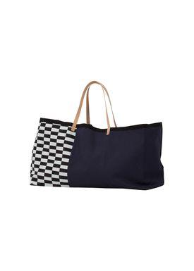 Ferm Living - Bag - Herman Big Bag - Blue Pattern