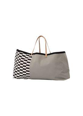 Ferm Living - Bag - Herman Big Bag - Grey Pattern