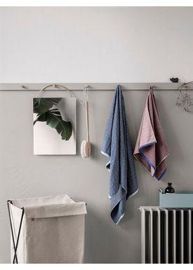 Ferm Living - Vaskekurv - Herman Laundry Stand - Cotton Canvas