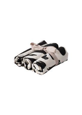 Ferm Living - Tea Towel - Brush Tea Towels - Black and White
