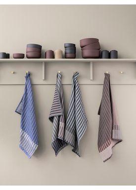 Ferm Living - Tea Towel - Grain Tea Towel - Grey