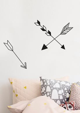 Ferm Living - Wallstickers - Arrow Wallsticker - Black