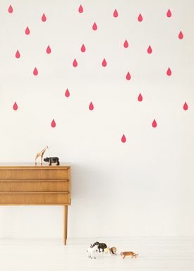 Ferm Living - Wallstickers - Mini Drop - Neon pink