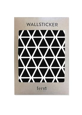 Ferm Living - Wallstickers - Mini Triangles Wallsticker - Black
