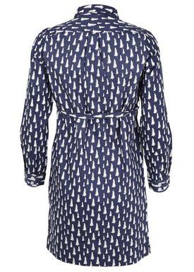- Kjole - Fir Printed Dress - Navy