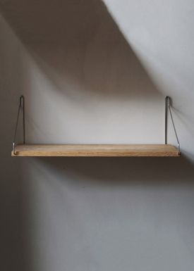 FRAMA - Shelf - Oak Shelf - 40 cm - Oak/Steel