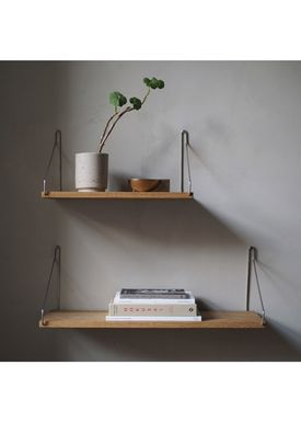 FRAMA - Hylla - Oak Shelf - 80 cm - Oak/Steel