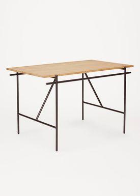 FRAMA - Desk - Writing Desk / WD-1 - Black Steel / Oak
