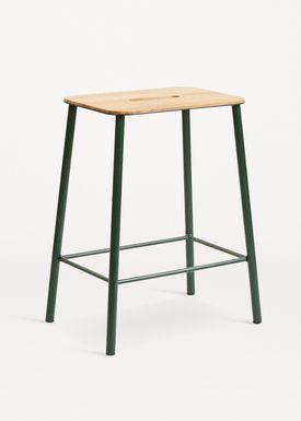 FRAMA - Chair - Adam Stool - Oak / Green / H50
