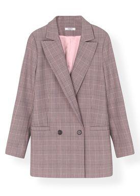 Ganni - Blazer - Suiting Blazer F2940 - Silver Pink