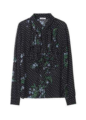 Ganni - Bluse - Rometty Georgette Shirt - Black