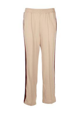 Ganni - Bukser - Dubois Polo Pants - Cuban Sand (Beige)