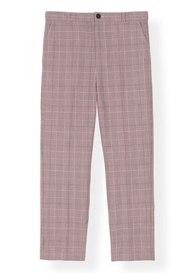 Ganni - Byxor - Suiting Pants F3079 - Silver Pink
