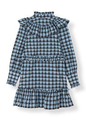 Ganni - Klänning - Charron Dress - Serenity Blue